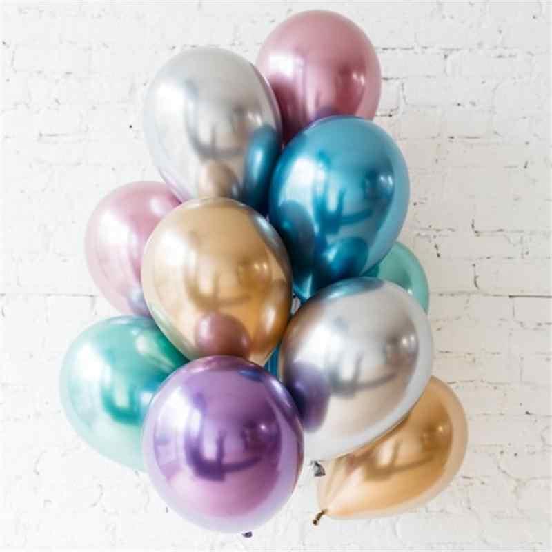 Globos de látex metálicos dorados de 12 pulgadas DCM Globos de Metal perlado Globos de colores dorados Globos de cumpleaños de boda globo de suministros para fiestas @ 4