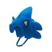 GE анимация Ежик Соник волос Косплей шляпа флис Косплей Кепка аниме плюшевая шляпа костюмы