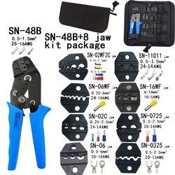 Zestaw szczypce do zaciskania SN 48B 8 szczęki dla TAB 2.8 4.8 pulg/tube/insuated terminali torba na zestaw elektryczny zacisk narzędzia w Kombinerki od Narzędzia na