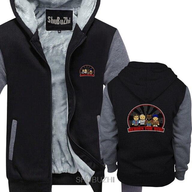 HEROES FOR HIRE men thick hoodies The A Team Hannibal A BA Mr. T Team TV Series Van Cartoon male hoody men New Fashion sbz6234