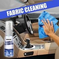 Agente de limpieza de tela Interior de coche, agente de limpieza multifunción, Spray de descontaminación fuerte, Espuma limpiadora de asientos de cuero para techo
