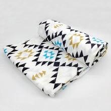 Детское одеяло муслиновые пеленки 100% хлопок мягкие детские