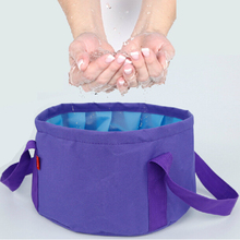 Portable Foldable Washbasin Travel Outdoor Foam Bag Laundry Basin Large Wash Foot Bucket Tarpaulin Cosmetic