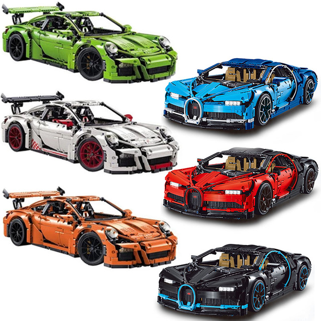 DHL Decool 3388 3368 Legoly Technic Compatible 42083 42056 Bugatti Chiron RSR GT3 Building Blocks Bricks Toys For Children Gifts