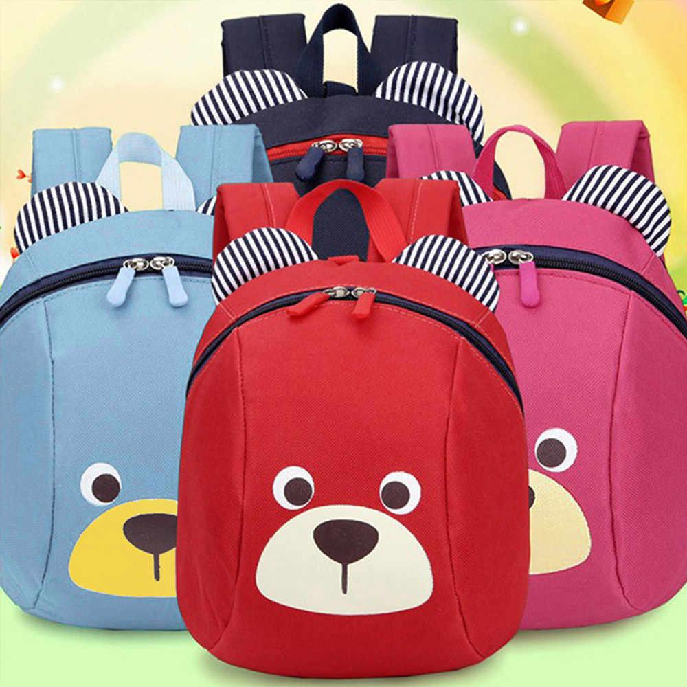 Idade 1-3 da criança mochila anti-perdido crianças saco do bebê bonito animal cão crianças mochila urso do jardim de infância escola mochila escolar