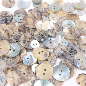 50PCS 20/18/15/12/10mm Natural Shell Sewing Buttons Color Japan Mother of Pearl MOP Round Shell 2 Hole Button Sewing Accessories