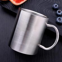 Stainless Steel Cup With Handle Home Bathroom Toothbrush Drinking Cups For Kids Utensils