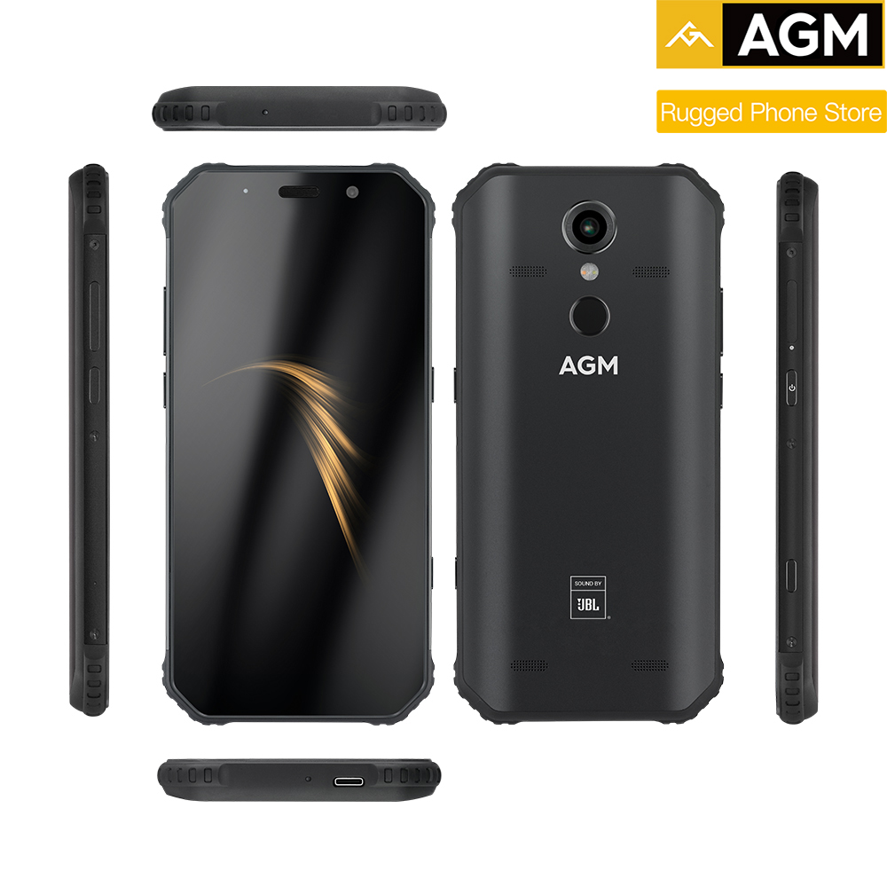 Agm A9 IP68 Impermeabile Telefono Cellulare Robusto 5.99 Hd 18:9 4 Gb di Ram 32 Gb di Rom SDM450 Octa Core 5400 mah Impronte Digitali di Tipo C Nfc - 6