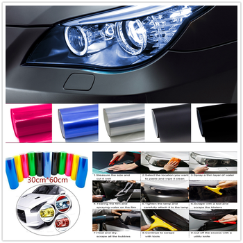 Car HeadLight Light Decor Vinyl Film Sticker Decal for Mercedes Benz Generation GLE63 GLE450 C450 C350 A45 A B C E S Class image