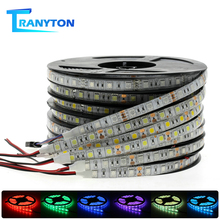 LED Strip Flexible LED Light Tape Waterproof RGB Strips 5050 DC12V 60leds/m White Warm White Blue Green Red 5m/lot