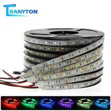 Светодиодная лента 5050 DC12V 60 светодиодов/м гибкая светодиодная лента белый теплый белый синий зеленый красный RGB водонепроницаемые RGB полосы ...