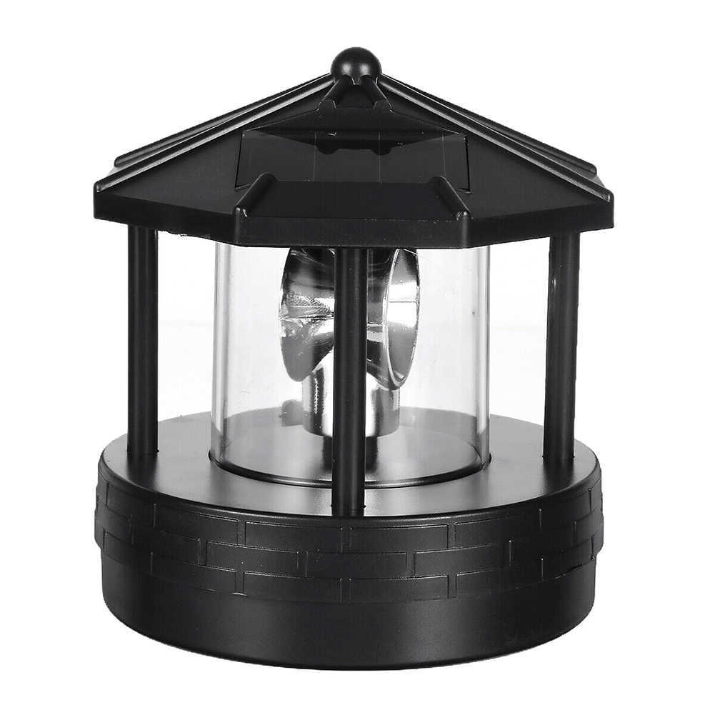 Solar Led Roterende Vuurtoren Light Tuin Yard Gazon Lamp Verlichting Outdoor Home Decor Bjstore