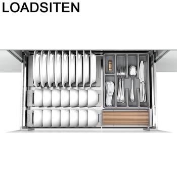 Szafka i przechowywanie organizator Rangement Dish Organizador Armario Cocina stojak ze stali nierdzewnej kuchnia szafka kuchenna kosz tanie i dobre opinie LOADSITEN CN (pochodzenie) Metal