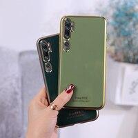 Custodia per telefono placcata in oro 6D per Xiaomi Mi 5X 6X 8 SE 9 Note 10 Lite 9T Pro CC9 CC9e A1 A2 A3 Lite Avocado Color Soft Cover Coque