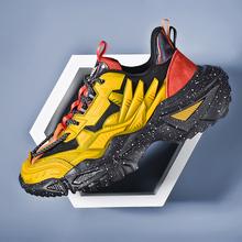 Sprężyna wysokiej jakości 2021 nowe męskie buty na co dzień modne oddychające buty lekkie antypoślizgowe buty amortyzujące 39-45 tanie tanio DAILOU Mesh (air mesh) CN (pochodzenie) Sztukateria Mieszane kolory Flanelowe Zima Lace-up Pasuje prawda na wymiar weź swój normalny rozmiar