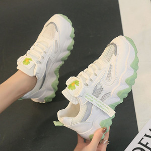 For Women Ladies Floral Prints Reflective Womans Travelling Shoes Platform Antislip Casual Fashion Sneaker Lifestyle 2020 New