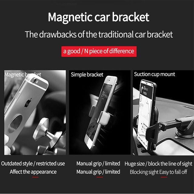 Magnetyczny uchwyt samochodowy na telefon uniwersalny w samochodzie telefon komórkowy stojak na iPhone X Samsung S9 Xiaomi tablety smartfony