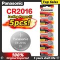 5 шт. Оригинальный Новый аккумулятор для PANASONIC cr2016 3v кнопочные батарейки для монет для пульта дистанционного управления часы компьютер cr 2016
