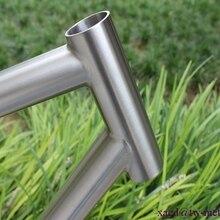 Титановый горный велосипед рама 44 мм головная трубка и BSA резьба BB оболочка через осевой капель