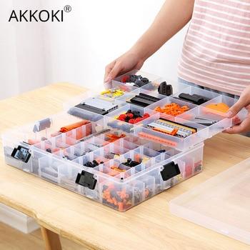 Trong suốt Có Thể Điều Chỉnh Hộp Nhựa Bảo Quản cho Khối Xây Dựng Đồ Chơi Lego Thành Phần Người Tổ Chức Điều Chỉnh Viên Công Cụ Bảo Quản Ốp Lưng