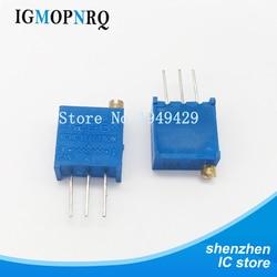 10 Pçs/lote 3296W-1-101LF 3296W 101 ohm 100R Top regulamento Multiturn Trimmer Potenciômetro de Alta Precisão Resistor Variável