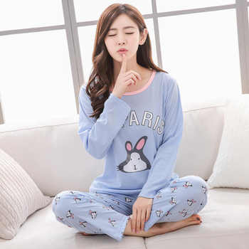 spring autumn Women Pyjamas Thin cotton Long Sleeve Pajamas Set Student Tracksuit Tops Female Pyjamas Sets Night Suit Sleepwear - DISCOUNT ITEM  19% OFF All Category