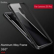 Lüks manyetik adsorpsiyon kılıfı Lenovo Z5 Pro kapak temperli cam metal tampon darbeye dayanıklı durumda Lenovo Z5 Pro GT kapak