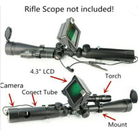 DIY Rifle Scope Add On Device Day&Night Dual use Night Vision 4.3 LCD IR Torch