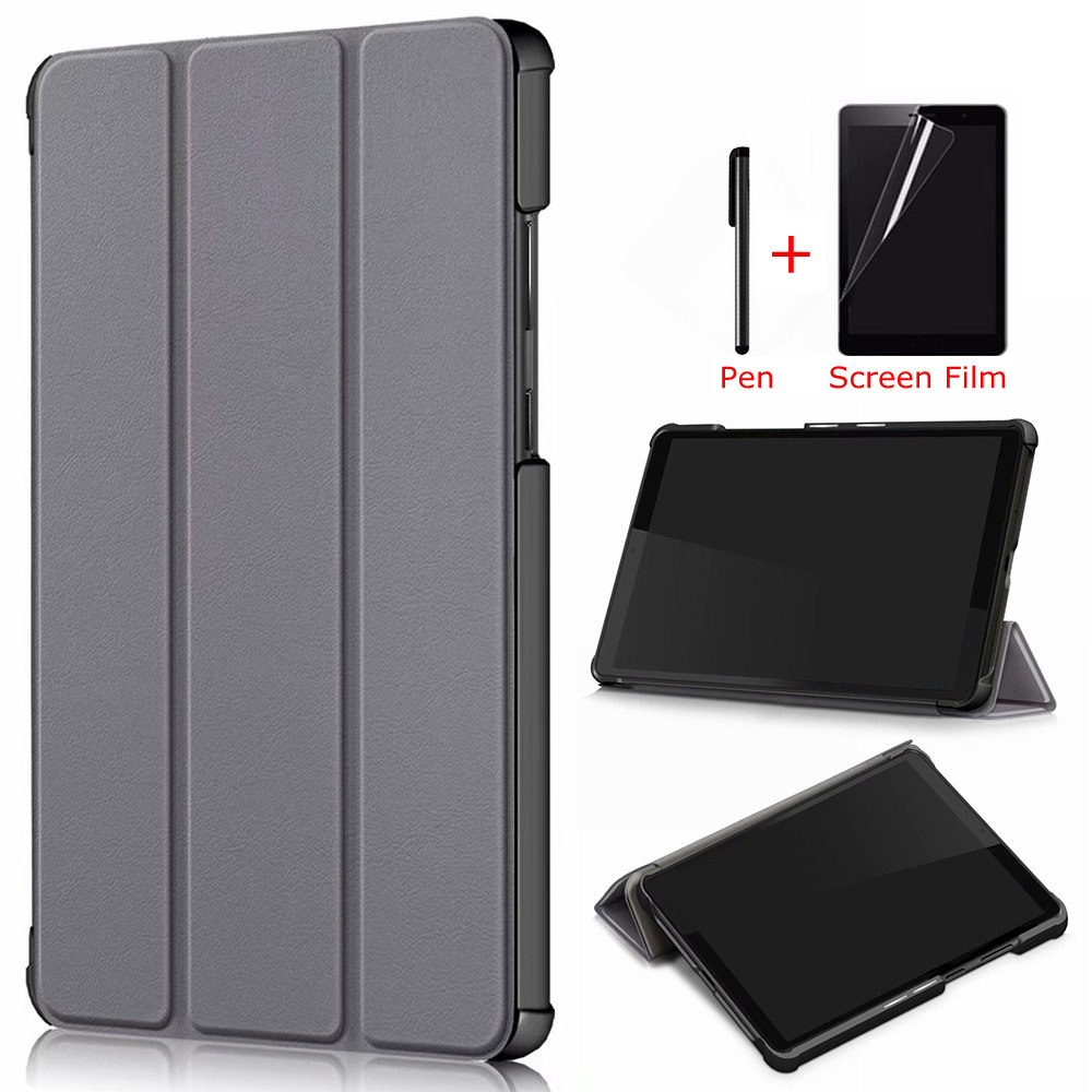 IBuyiWin Megnetic Case For Lenovo Tab M8 TB-8505F TB-8505X 8.0 Inch Tablet Funda Capa Cover For M8 FHD TB-8705F/8705N +Film+Pen