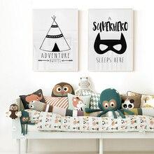 Poster Prints Painting Wall-Picture Room-Decor Nursery Superhero Bedroom Dream Big Modern Canvas