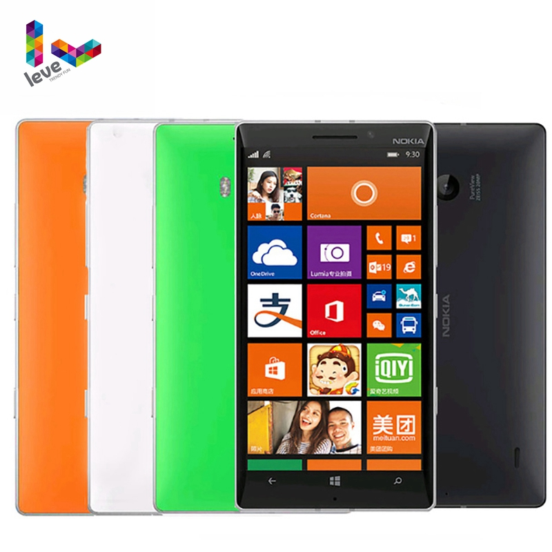 "Nokia Lumia 930 4G LTE Unlocked Mobile phones 5"" 20MP Camera LTE NFC Quad-core 32GB ROM 2GB RAM Nokia L930 Original Smartphones"
