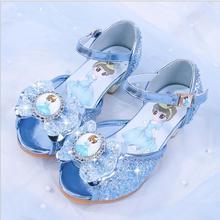 цена на Classic Bow Girl PU Leather Girls Party Dance Child Kids Shoes 3-14 Years Princess High Heels Child Wedding Shoes