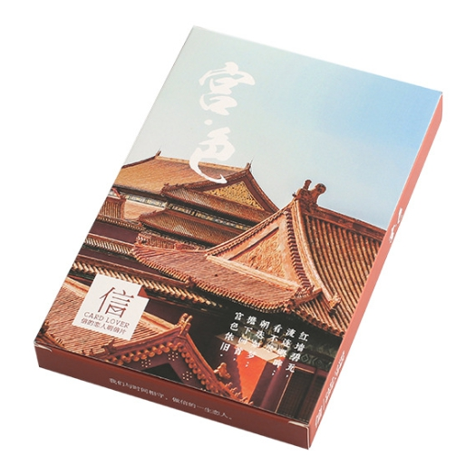 14.3cm*9.3cm Palace Color Paper Postcard(1pack=30pieces)
