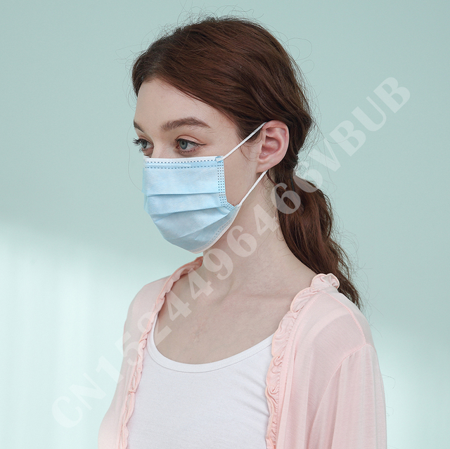 3 Laye Mask dust protection Masks Disposable Face Masks Elastic Ear Loop Disposable Dust Filter Safety Mask Anti-Dust 5
