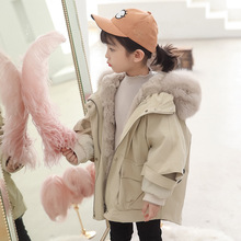 real kids fur coat natural rabbit girls coats and jackets fox hooded in children outerwear girl