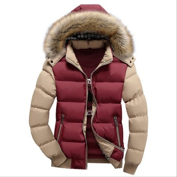 Men's Coat Winter Cotton-padded Jacket Leisure Men Thicker Cotton Clothes Men's Parkas Men's Winter Hooded Coat Down Cotton Suit