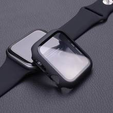 Abdeckung für apple watch fall 44mm 40mm 38mm 42mm iwatch fall screen protector bumper gehärtetem Glas apple watch serie 6 se 5 4 3