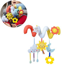 Pendant Toy Baby Crib Cute Moon Spiral Shape Educational Stroller Accessories Bell Hanging Rattle Bed Plush Star Infant Cloud