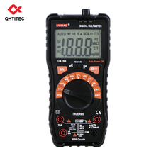 QHTITEC UA19B NCV Digital Multimeter TRMS 6000 Counts Temperature Volt Meter Auto Ranging Measures Voltage Tester with Backlight