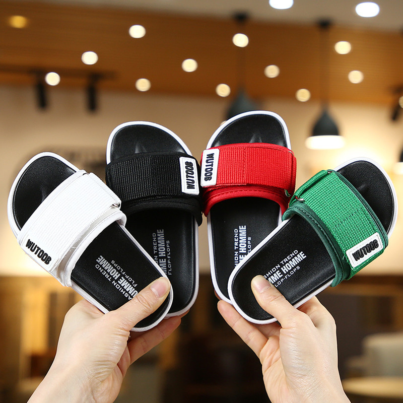 Summer 2020 New Baby Girls Boys Slippers Water Children Flip Flops Barefoot Child Letter Shoes Indoor Beach Slippers For Kids