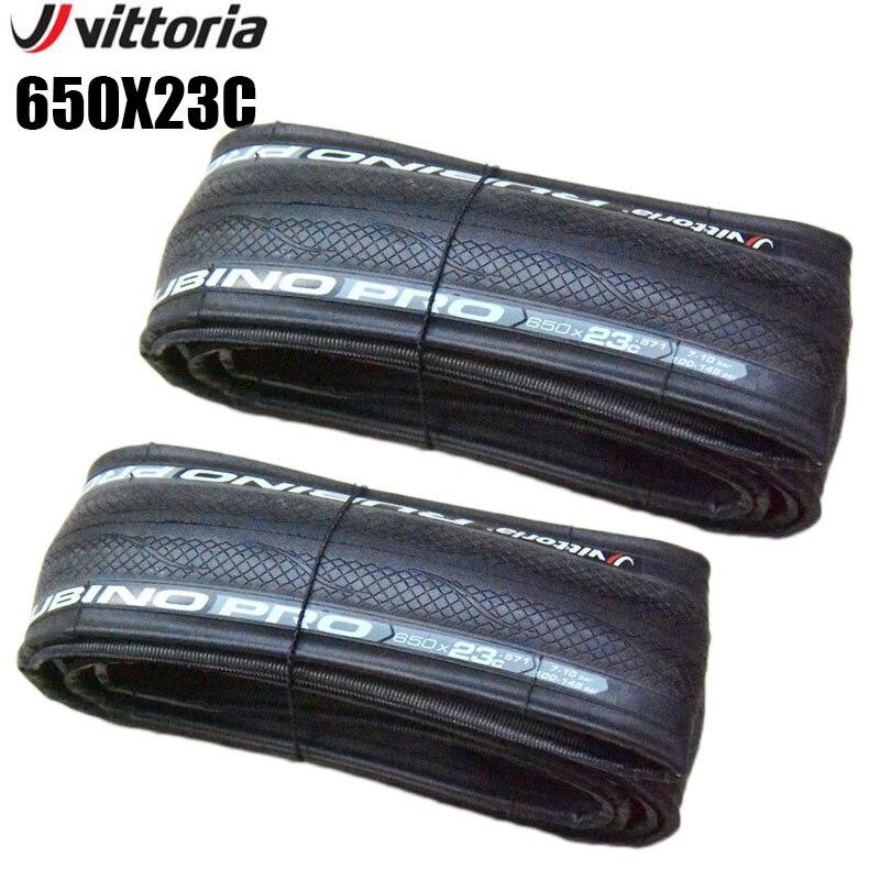 Vittoria rubino pro estrada bicicleta dobrável pneus 650 x 23c super leve ciclismo wearable 60tpi pneu da bicicleta com tubo acessórios