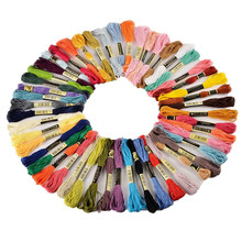 50 Skeins Coloured Embroidery Thread Cotton Cross Needle Craft Sewing Floss Kit DIY Sewing Skeins Craft sewing thread cross stripes cabbie hat