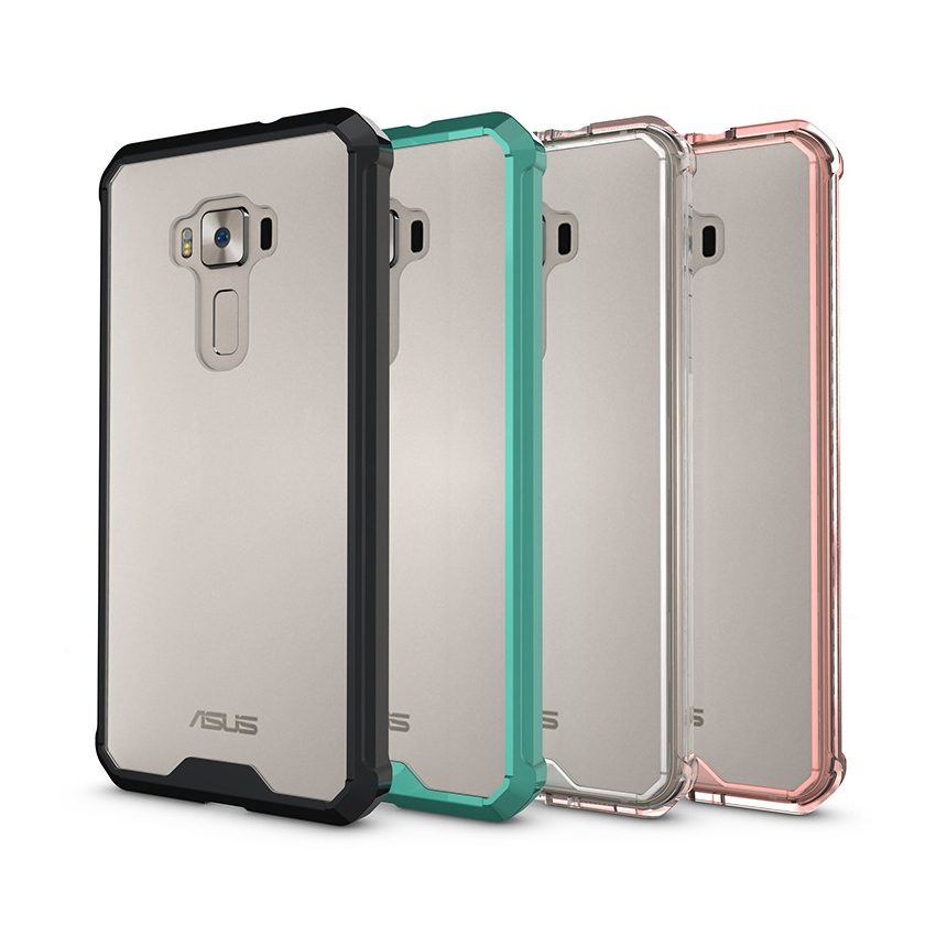 Hot Hybrid Stötsäker täcka Air Cushion Frame Case med Crystal Clear Hard Back Shell Coque Mask För Asus Zenfone 3 ZE552KL 5.5 ""