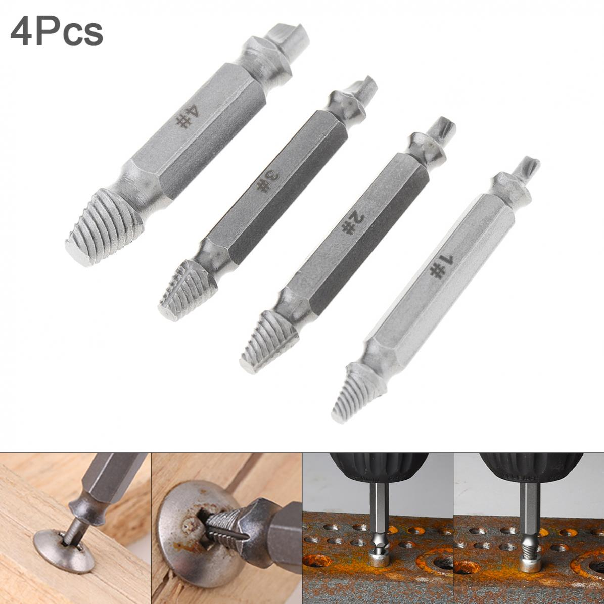 Bolt Remover S2 Alloy Steel Screw Extractor Drill Bit Tool With Hexagon Handle Damaged Screw Extracfor Broken Remover