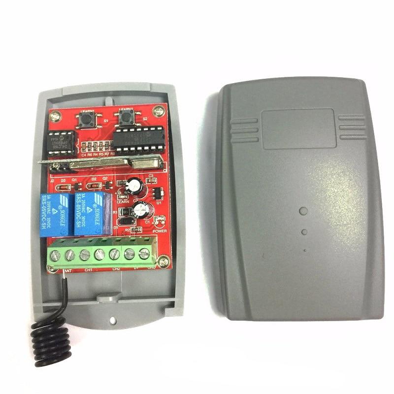 Приемник управления гаражом 12-24 В постоянного тока 433 МГц для AT-4 S449 с фиксированным кодом и пультом дистанционного управления непрерывно из...