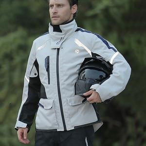 Image 5 - SCOYCO גברים אופנוע מעיל Chaqueta Moto Windproof מוטוקרוס Moto המעיל עם Linner להסרה הגנה לחורף