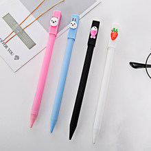 Simple Cartoon Mechanical Pencil Black Refill 0.5mm Writing Drawing Propelling Pencil Plastic Material School Office Supplies