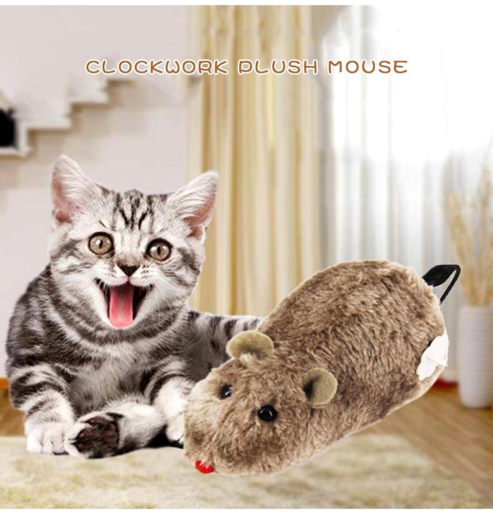 ZSGG Juguetes de Cuerda Juguete de Cuerda Juguete para Mascotas Juguete de Felpa Rat/ón de Rata Juguete Animal para Gato Color Al Azar 1 Pieza