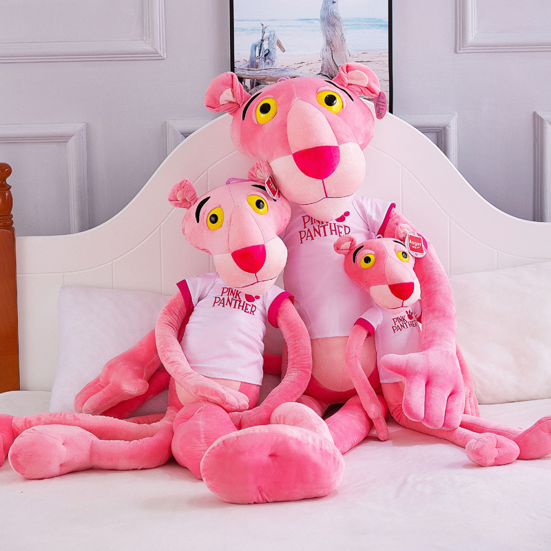Pink Leopard Darling Panther Naughty Leopard Doll Plush Toy Children's Gift Toys For Children Christmas Gift Stitch Anime Plush