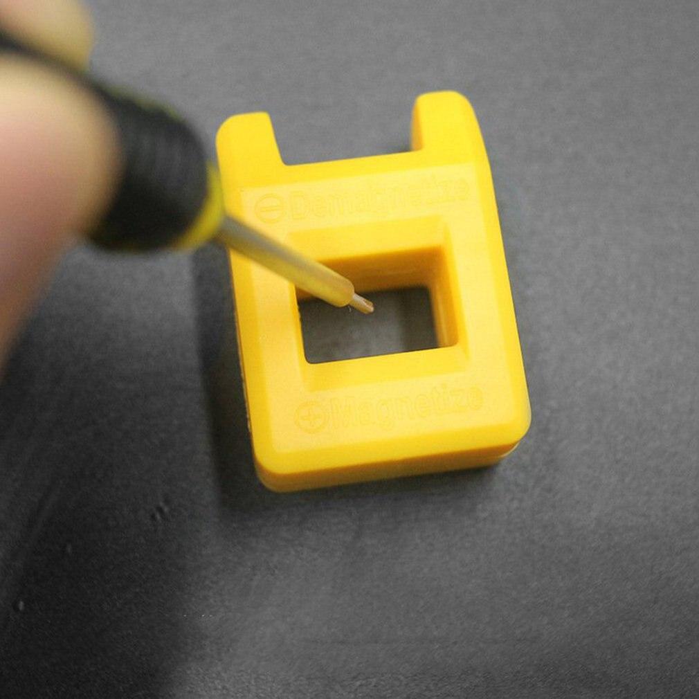 Portable 2-in-1 Screwdriver Bit Head Demagnetization Tool Manual Screwdriver Demagnetizer Magnetizer Mini Degausser